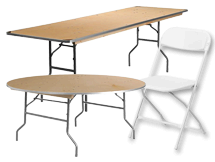 Tables & Chairs (We Deliver)