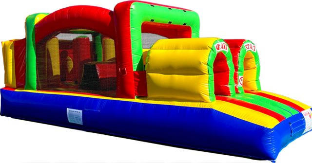 25 Foot Backyard Fun Course rental in Austin Texas from Austin Bounce House Rentals