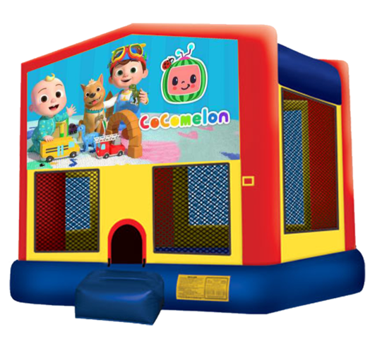 Cocomelon Bounce House Rentals in Austin Texas from Austin Bounce House Rentals