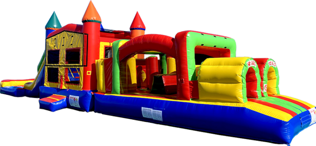Super Duper Combo inflatable rental outside view