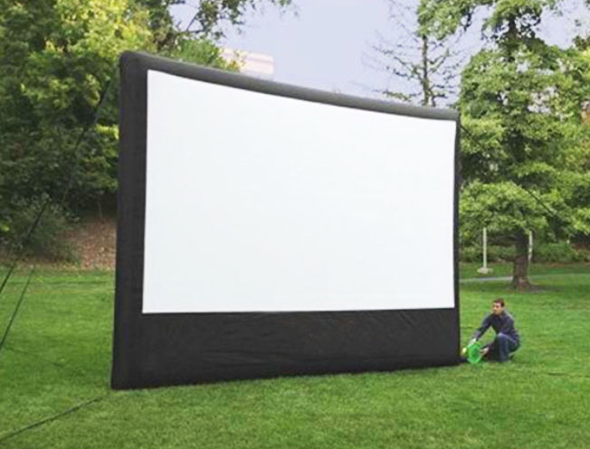 Inflatable movie screen for rent in Austin Texas from Austin Bounce House Rentals