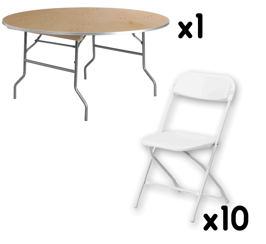 A 60 birchwood round table that seats up to 10 adults for 120 round table seats how many