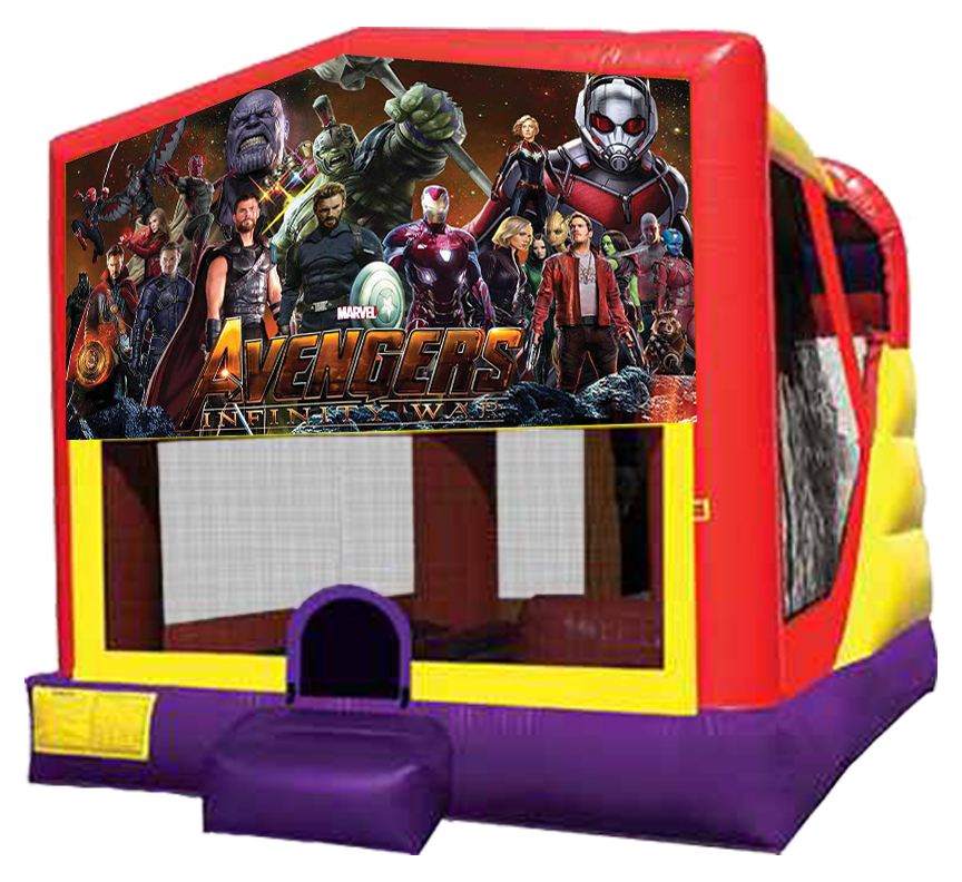 Avengers Infinity War 4-in-1 Combo Rental in Austin Texas from Austin Bounce House Rentals