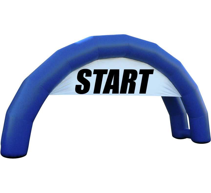 Starting Line Arch Entrance Arch in Austin Texas from Austin Bounce House Rentals