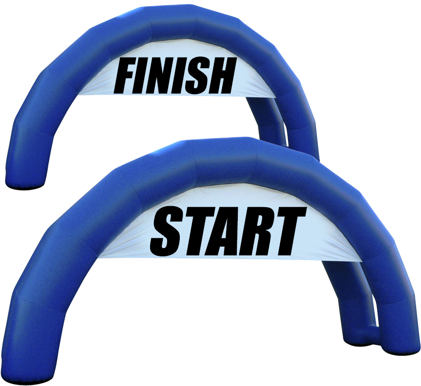 Starting+Finish Line Arch Set Entrance Arches in Austin Texas from Austin Bounce House Rentals