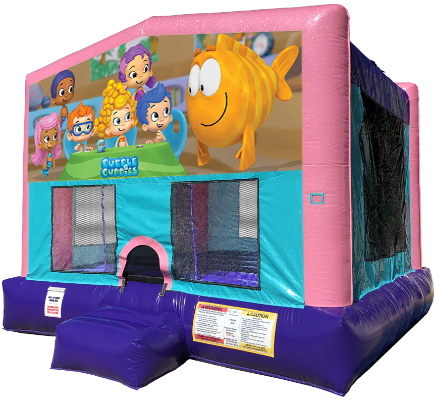 Bubble Guppies Sparkly Pink Bounce House Rentals in Austin Texas from Austin Bounce House Rentals