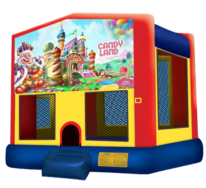 Candy Land Bounce House Rentals in Austin Texas from Austin Bounce House Rentals