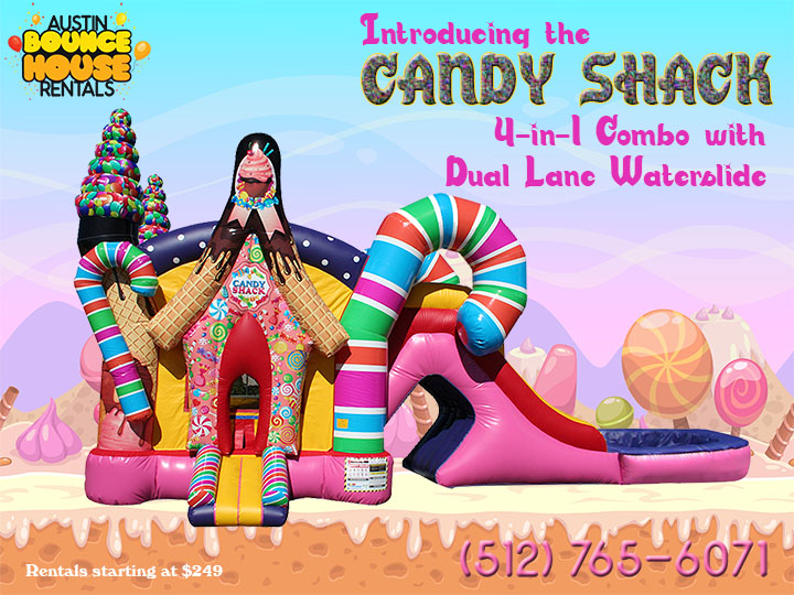 Candy Shack Combo with Water Slide in Austin Texas from Austin Bounce House Rentals