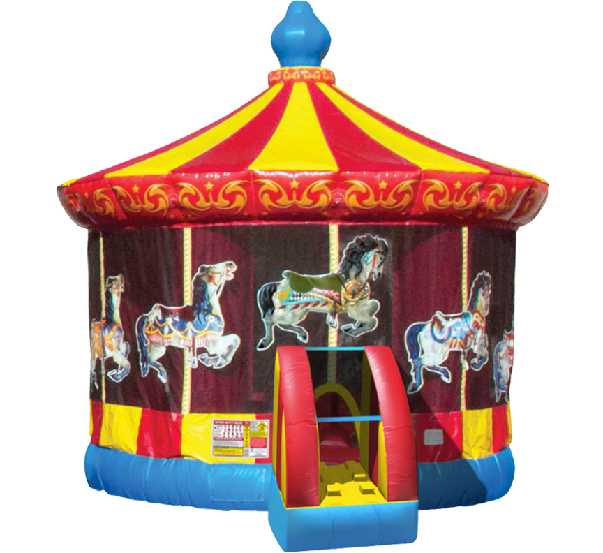 Carousel Bounce House in Austin Texas from Austin Bounce House Rentals 512-765-6071