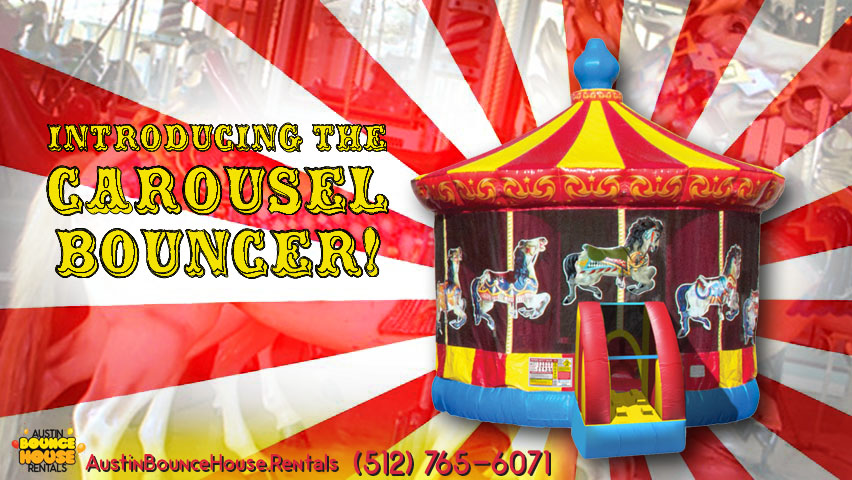 Carousel Bounce House Rentals in Austin Texas from Austin Bounce House Rentals 512-765-6071