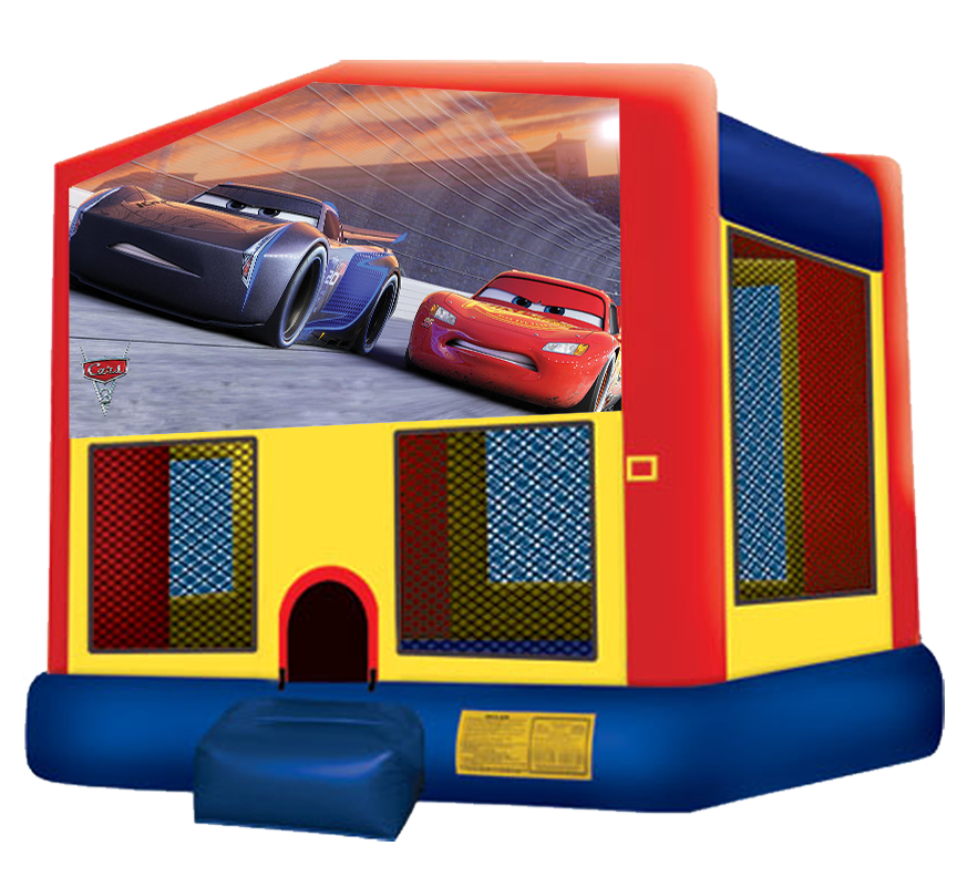 Cars 3 Bounce House Rental for kids parties in Austin Texas from Austin Bounce House Rentals