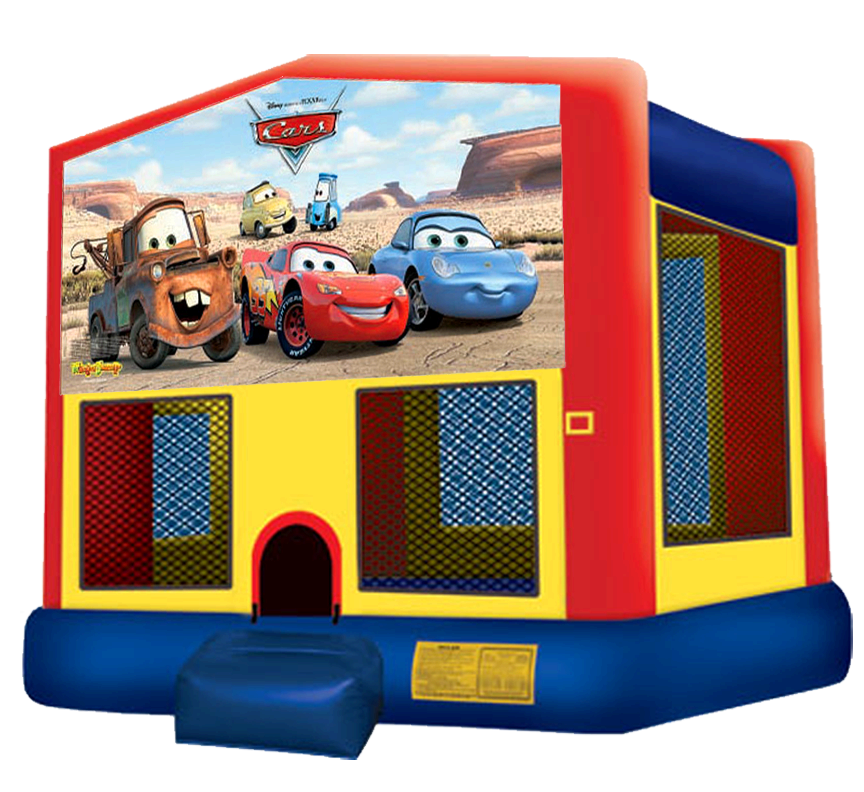 Cars Bounce House Rentals in Austin Texas from Austin Bounce House Rentals