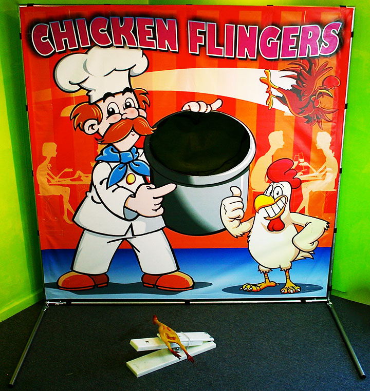 Chicken Flingers Carnival Game in Austin Texas from Austin Bounce House Rentals
