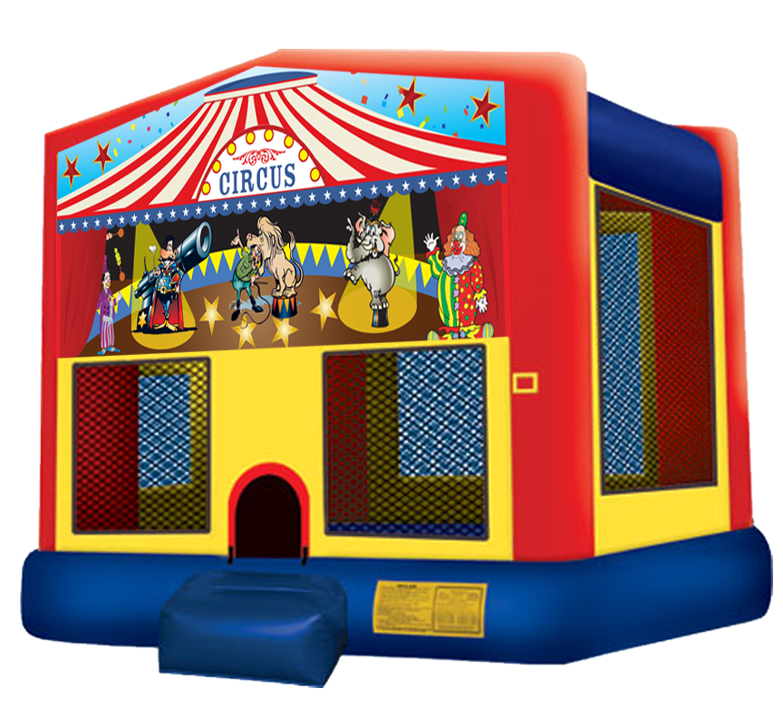 Circus Big Top Bounce House rentals in Austin Texas by Austin Bounce House Rentals 512-765-6071