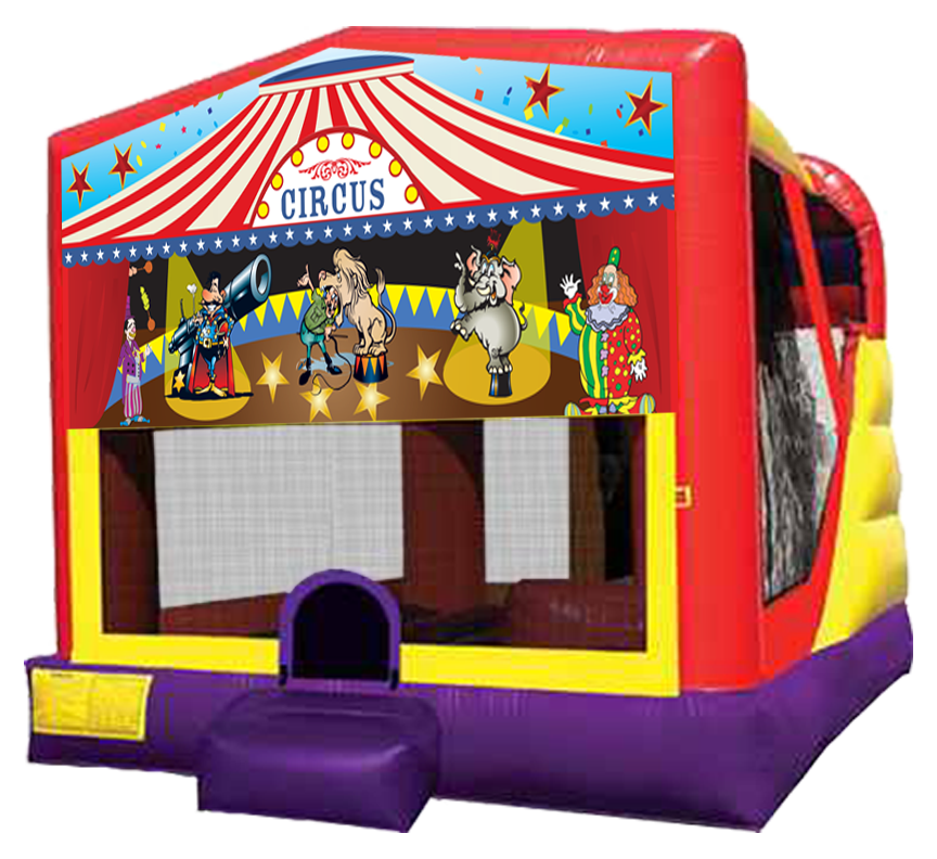 Circus Big Top 4-in-1 Combo inflatable rentals in Austin Texas from Austin Bounce House Rentals