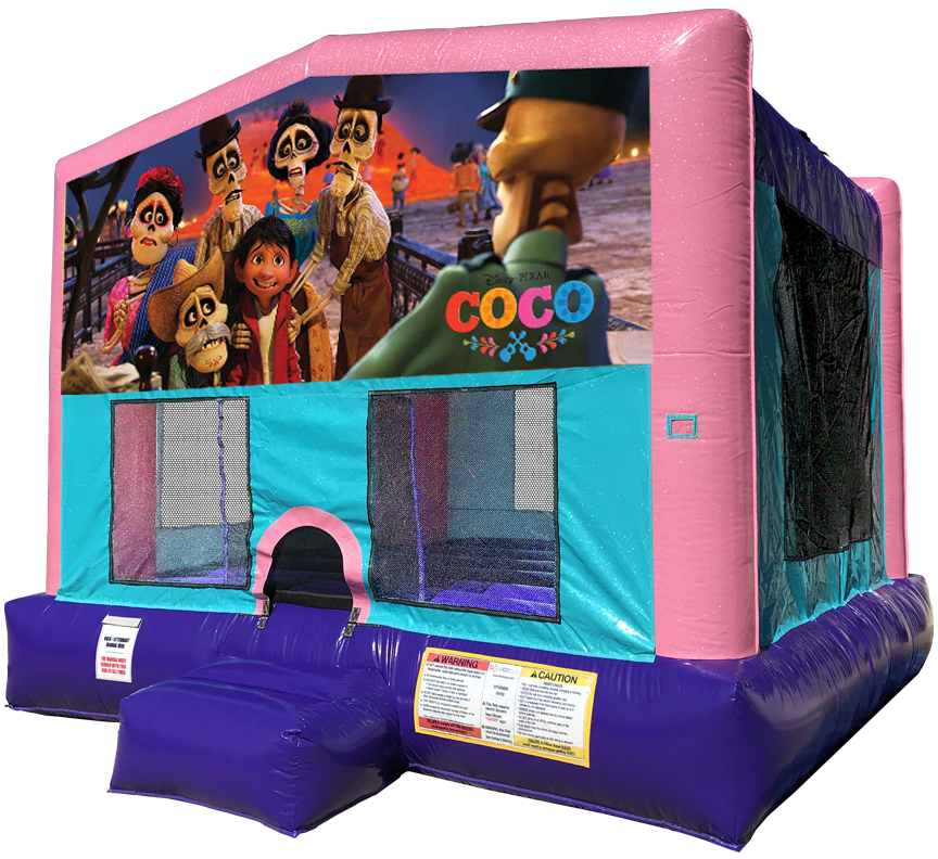 Coco Sparkly Pink Bounce House Rentals in Austin Texas from Austin Bounce House Rentals 512-765-6071