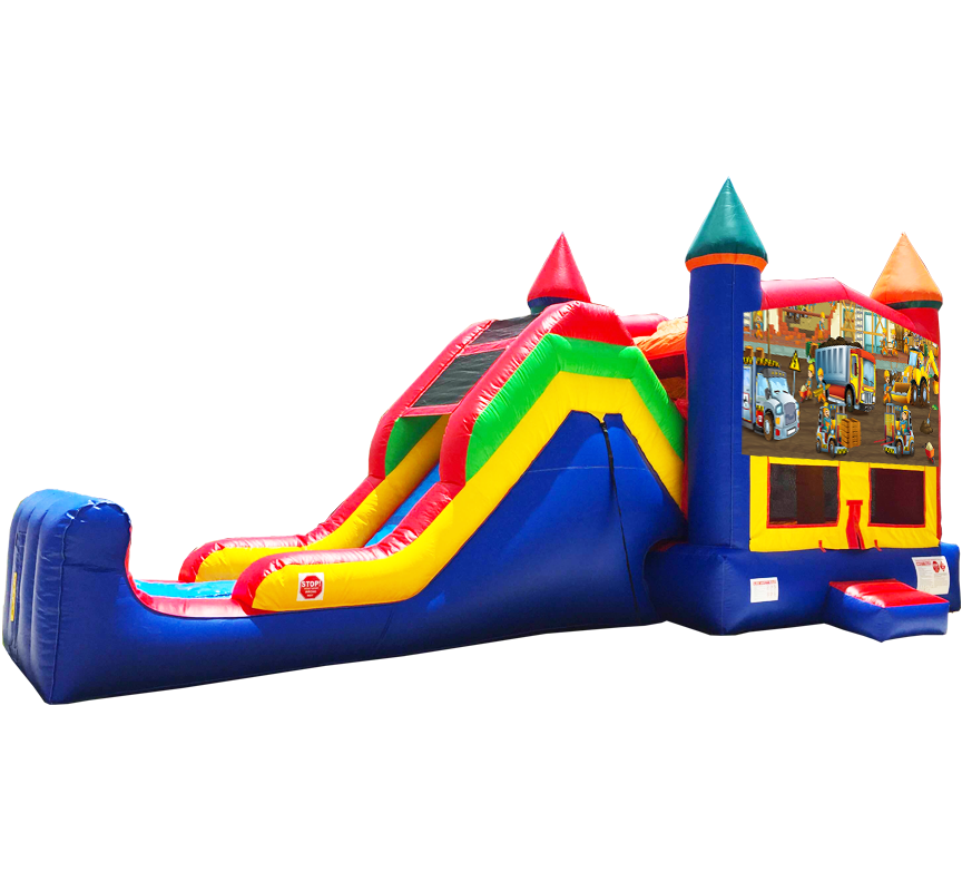 Construction Super Combo Party Rental Inflatable in Austin Texas from Austin Bounce House Rentals