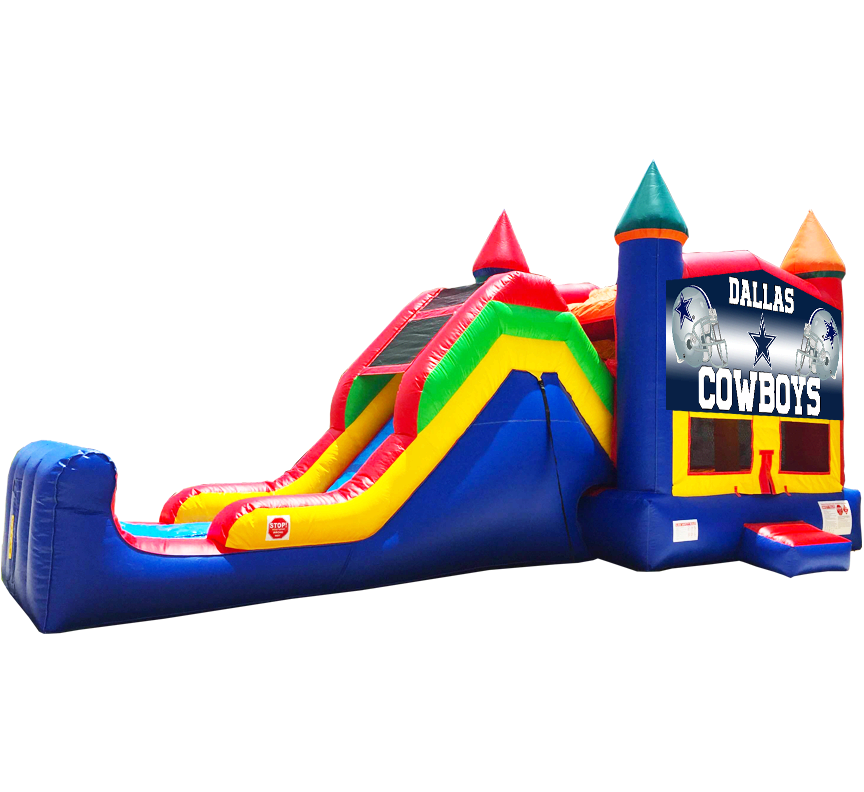 Dallas Cowboys Super Combo 5-in-1 inflatable rental in Austin Texas