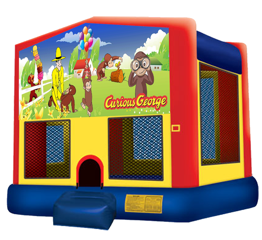 Curious George bounce house rental in Austin Texas by Austin Bounce House Rentals