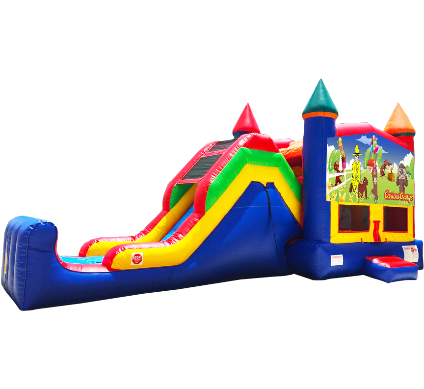 Curious George Super Combo rentals in Austin Texas from Austin Bounce House Rentals