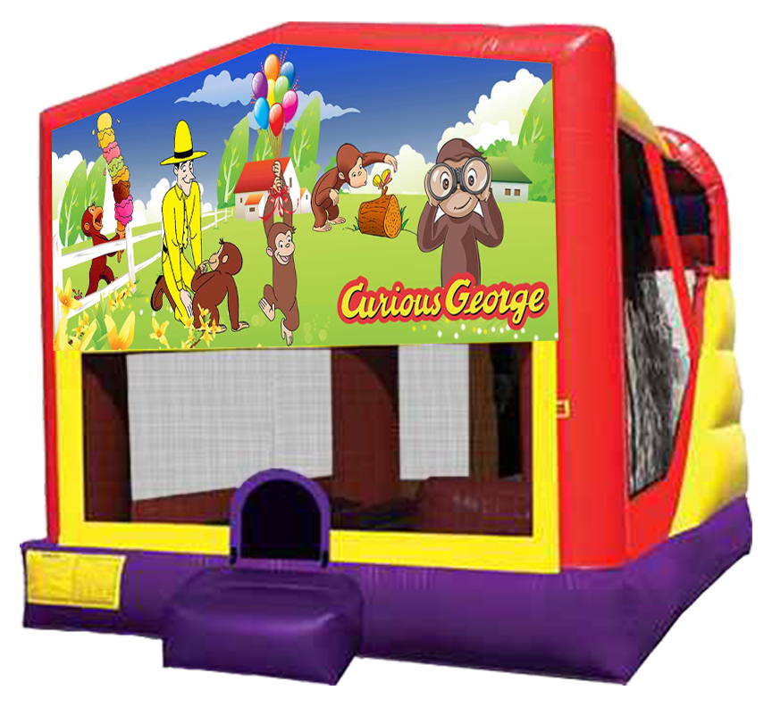 Curious George 4-in-1 Combo rentals in Austin Texas by Austin Bounce House Rentals
