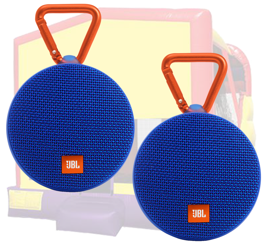 Dance party upgrade - add speakers to any inflatable rental in Austin Texas with Austin Bounce House Rentals