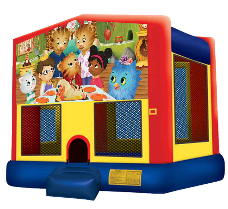 Daniel Tiger's Neighborhood bounce house rental in Austin Texas by Austin Bounce House Rentals