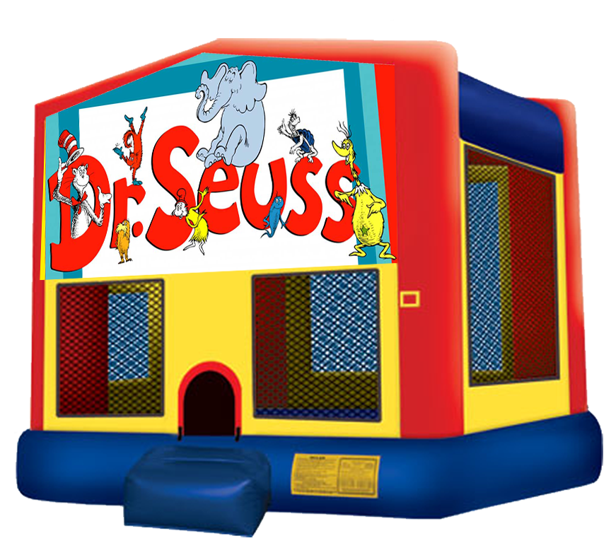 Dr Seuss Bounce House rentals in Austin Texas from Austin Bounce House Rentals