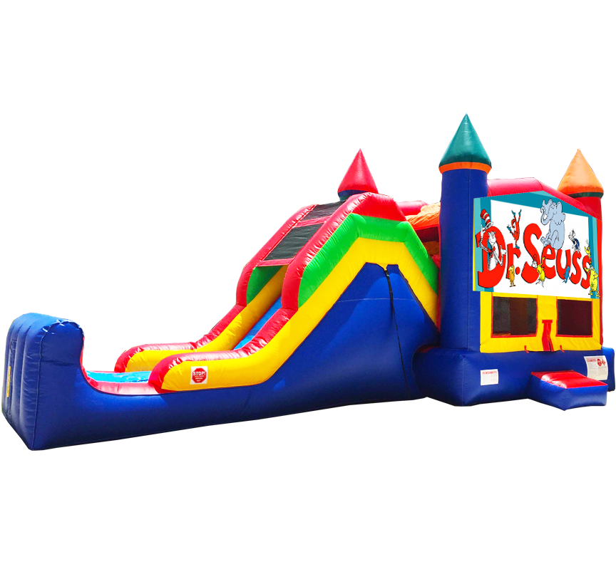 Dr Seuss Super Combo 5-in-1 in Austin Texas from Austin Bounce House Rentals