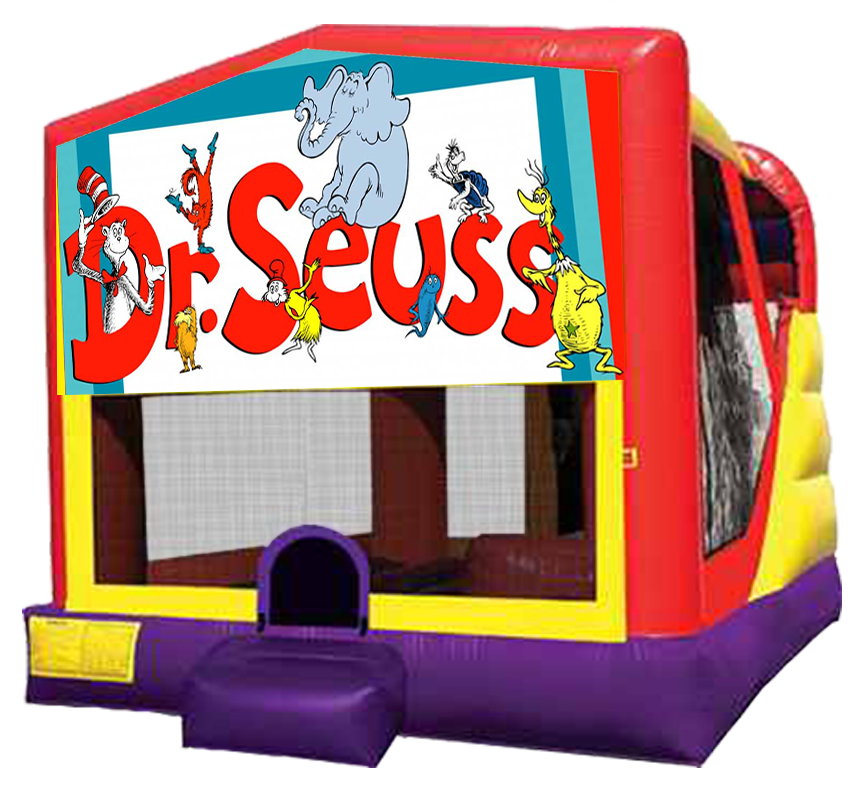 Dr Seuss bounce slide combo rental in Austin Texas from Austin Bounce House Rentals