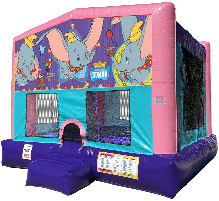 Dumbo Sparkly Pink Bounce House Rentals in Austin Texas from Austin Bounce House Rentals