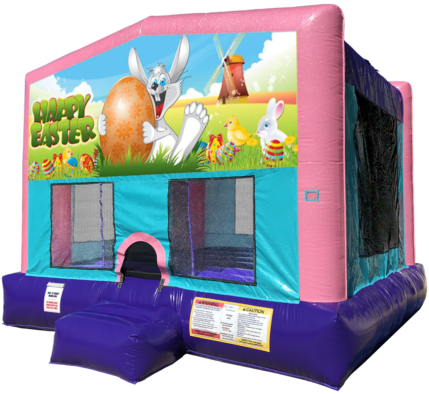 Easter Sparkly Pink Bounce House Rentals in Austin Texas from Austin Bounce House Rentals