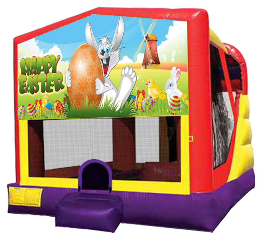 Easter XL Bounce-Slide Combo for party rentals in Austin TX from Austin Bounce House Rentals