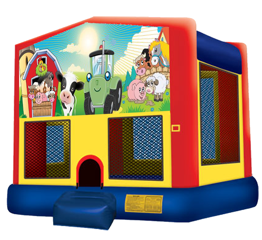 Barnyard Farm Bounce House rental in Austin Texas from Austin Bounce House Rentals