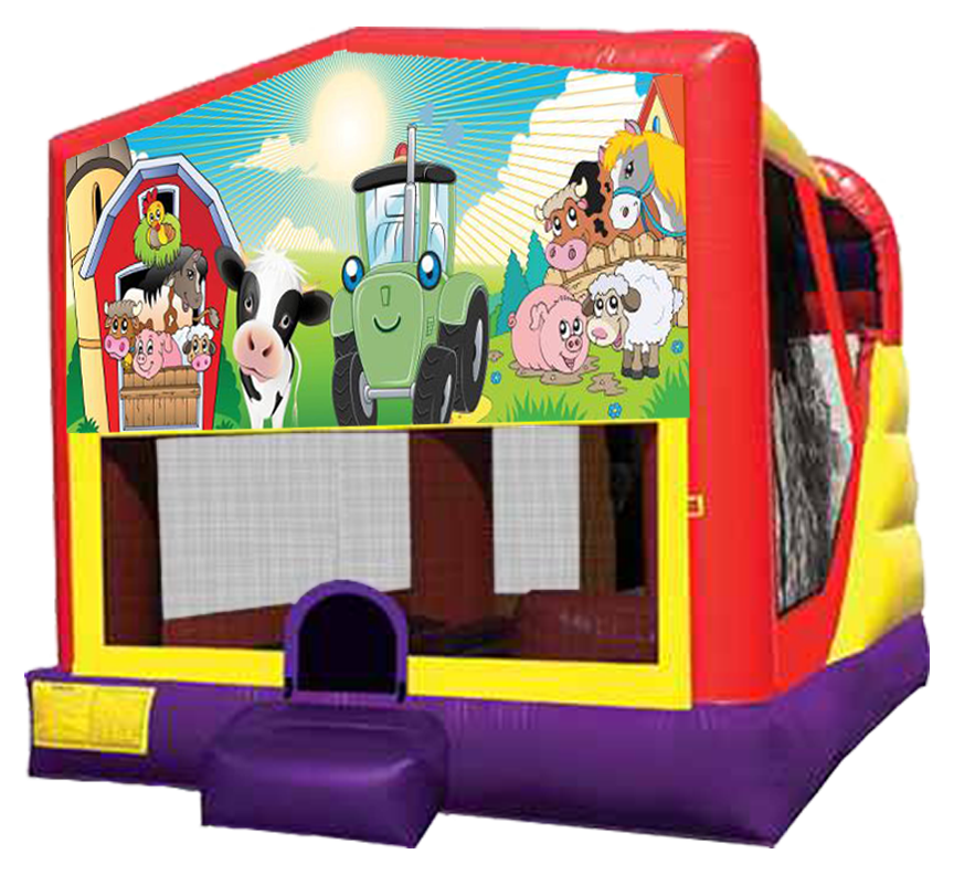 Barnyard Farm XL Combo rental in Austin TX from Austin Bounce House Rentals