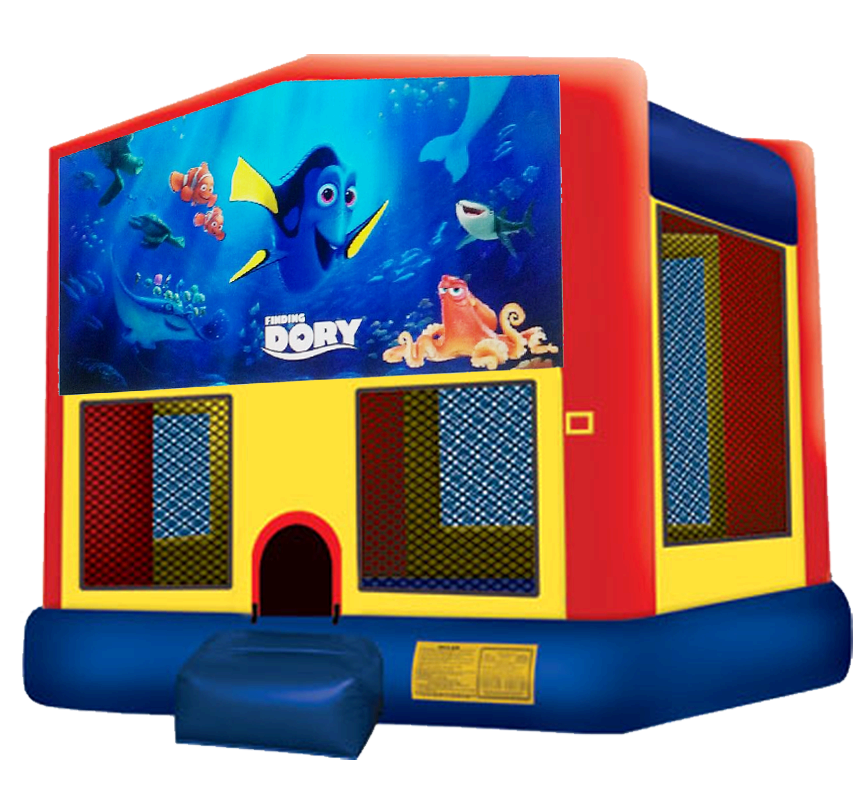 Finding Dory Bounce House Rentals in Austin Texas from Austin Bounce House Rentals