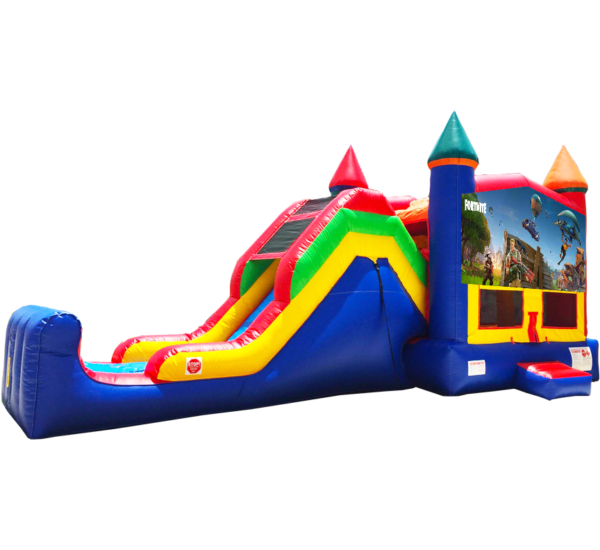 Fortnite Super Combo 5-in-1 Rentals in Austin Texas from Austin Bounce House Rentals 512-765-6071