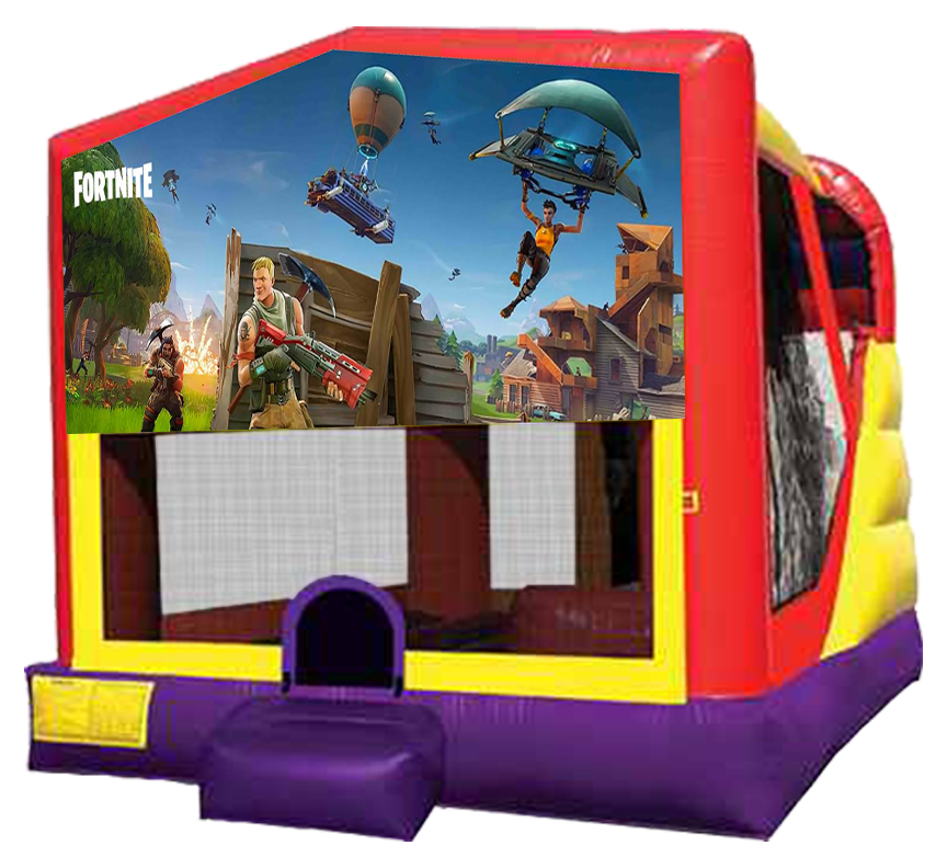 Fortnite 4-in-1 Combo Rentals in Austin Texas from Austin Bounce House Rentals 512-765-6071
