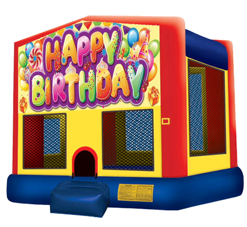 Happy Birthday Bounce House Rentals in Austin Texas from Austin Bounce House Rentals