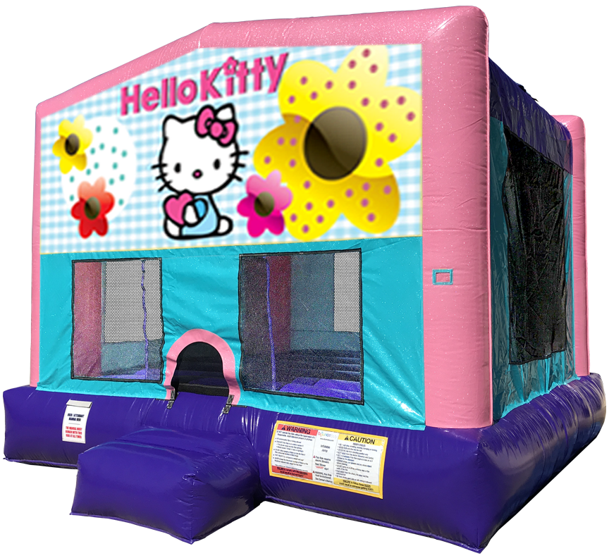 Hello Kitty Sparkly Pink Bounce House Rentals in Austin Texas from Austin Bounce House Rentals