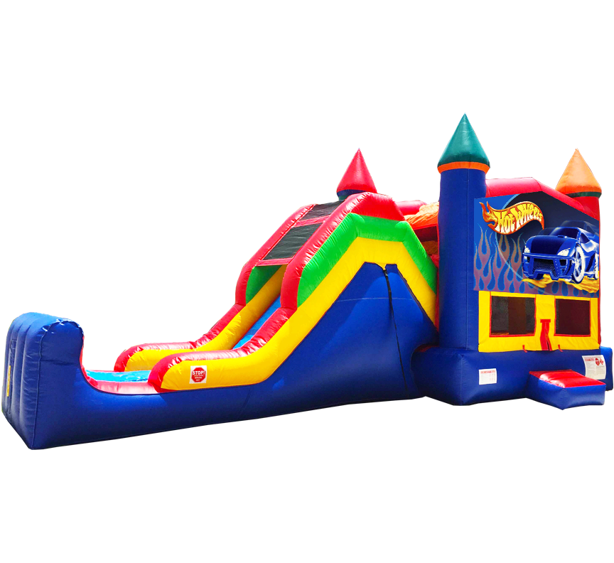Hot Wheels Super Combo 5-in-1 Bounce Slide Combo - Austin Bounce House Rentals