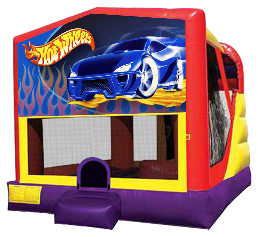 Hot Wheels XL Combo Inflatable Bounce Slide Rental - Austin Bounce House Rentals