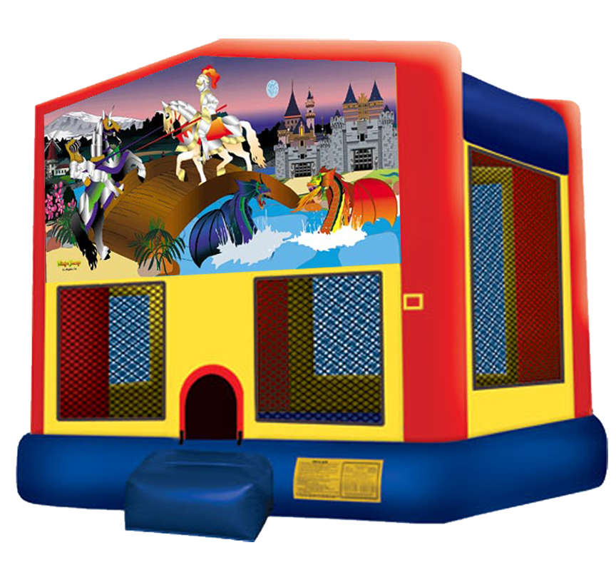 Knights + Dragons Bounce House Rentals in Austin Texas from Austin Bounce House Rentals