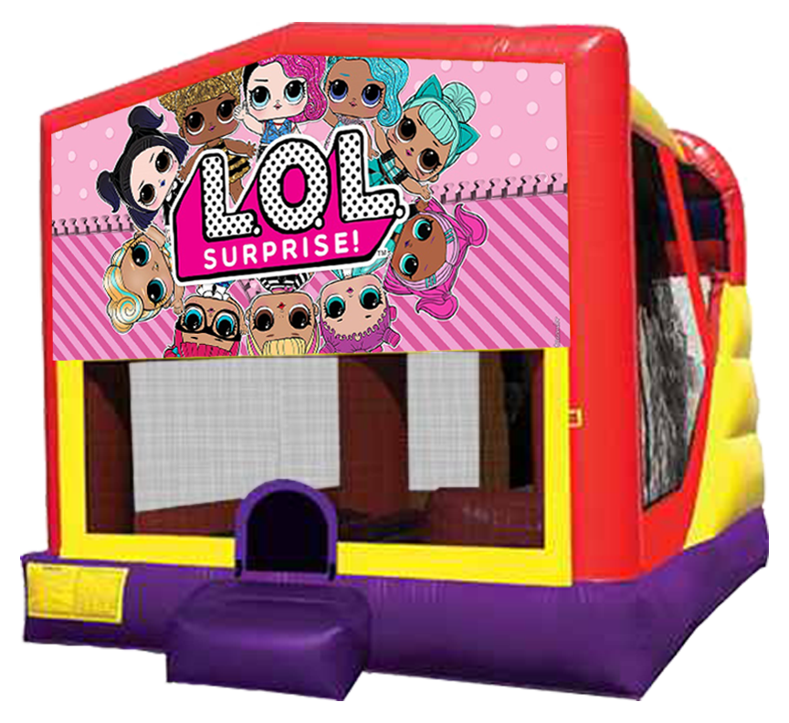 LOL Surprise Extra Large 4-in-1 Combo rentals in Austin Texas from Austin Bounce House Rentals