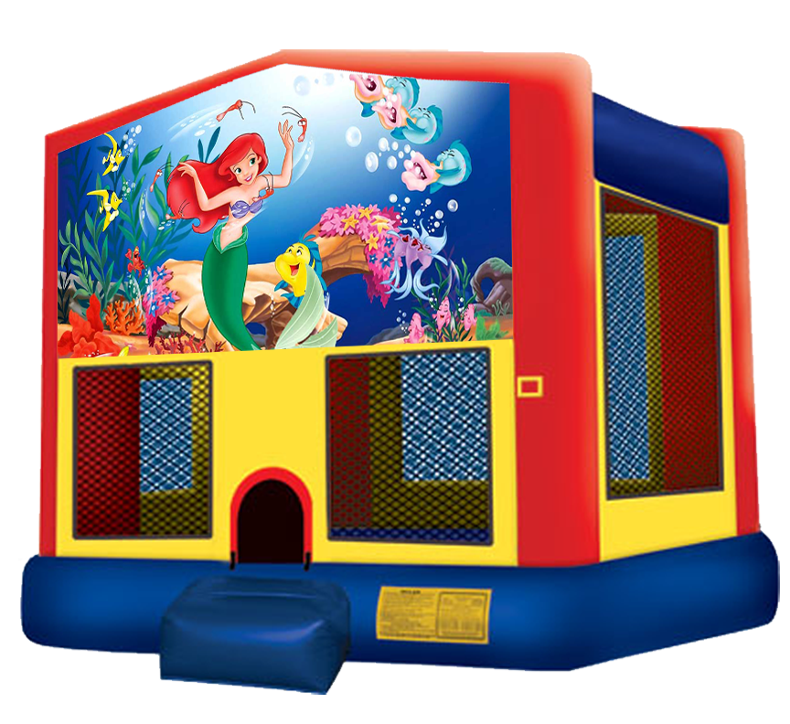 Little Mermaid bounce house rental in Austin Texas by Austin Bounce House Rentals
