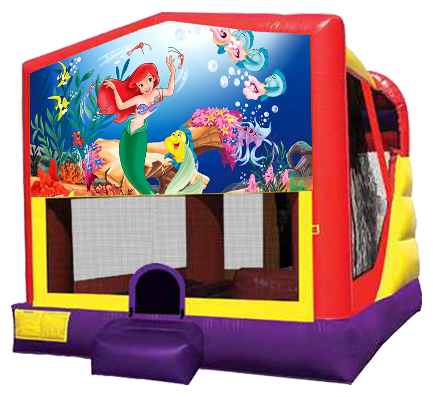 Little Mermaid 4-in-1 Combo rentals in Austin Texas by Austin Bounce House Rentals