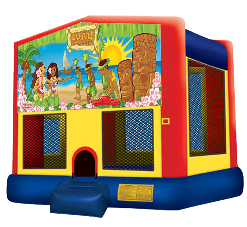 Luau Bounce House rentals in Austin Texas from Austin Bounce House Rentals