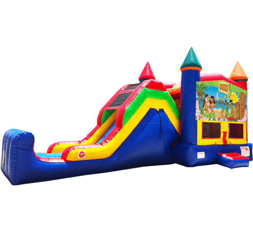 Luau Beach Party Super Combo 5-in-1 from Austin Bounce House Rentals in Austin Texas