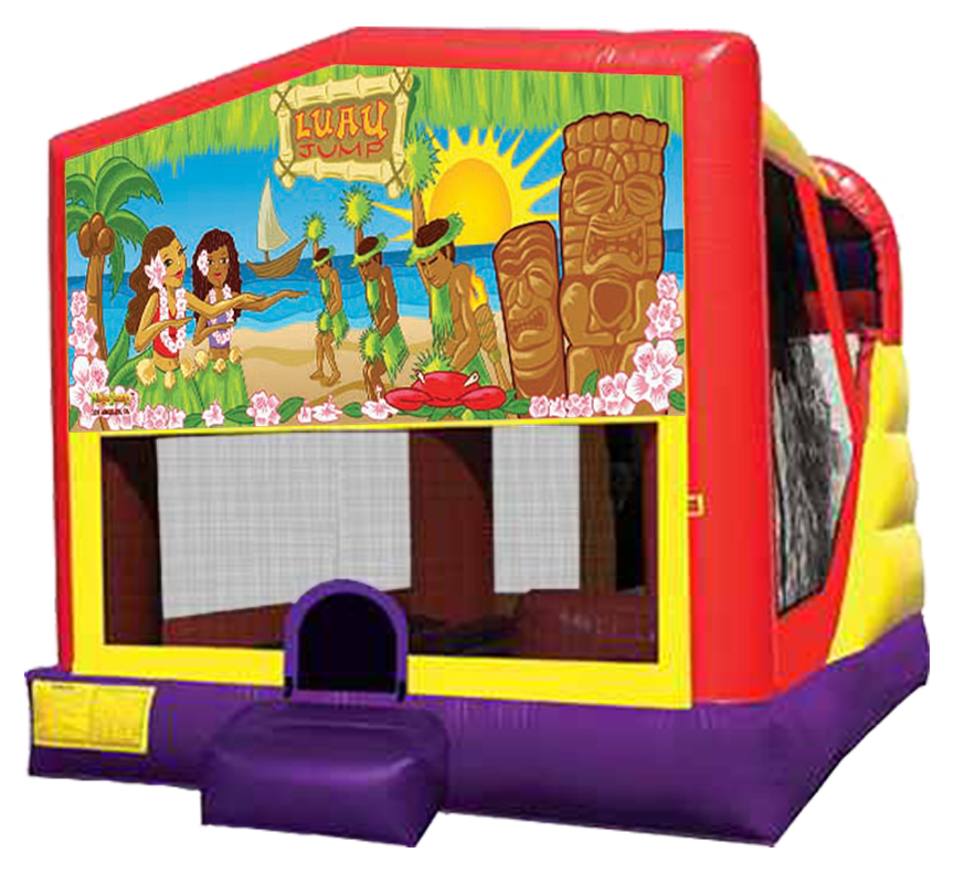 Luau Beach Party 4-in-1 Combo in Austin Texas from Austin Bounce House Rentals 512-765-6071