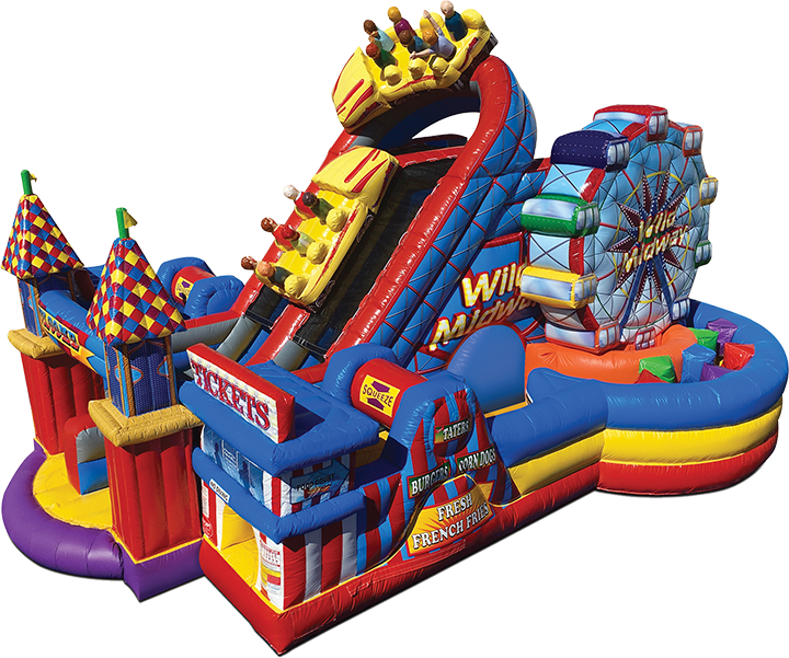 Midway Amusement Park Obstacle Course rental in Austin Texas from Austin Bounce House Rentals